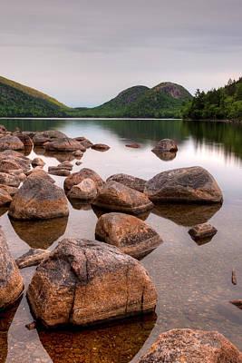 Jordan Pond Photograph - Rocks In Pond, Jordan Pond, Bubble by Panoramic Images