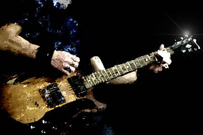 Rockstar Playing Solo On Guitar Original by Toppart Sweden