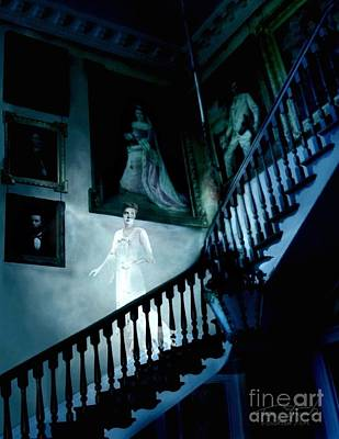 Paranormal Digital Art - Rockwood Stairwell  by Tom Straub