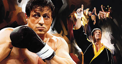 Stallone Painting - Rocky Artwork 2 by Sheraz A