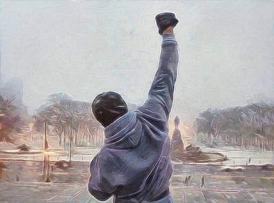 Philadelphia Mixed Media - Rocky Balboa by Dan Sproul