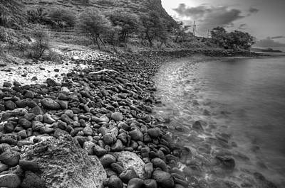 Rocky Beach Print by Tin Lung Chao