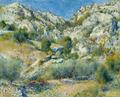 Pierre-auguste Renoir Painting - Rocky Crags At L Estaque by Pierre-Auguste Renoir