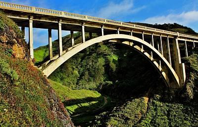 Historic Bridge Photograph - Rocky Creek Bridge by Benjamin Yeager