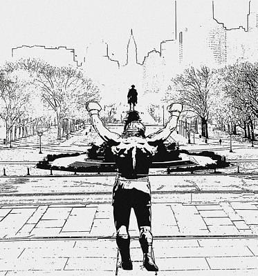 Rocky Balboa Digital Art - Rocky Is Philadelphia by Bill Cannon