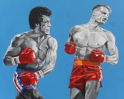 Drago Painting - Rocky Iv Hes Cut by Patrick Killian