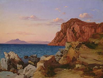 Edge Painting - Rocky Landscape by Antal Ligeti