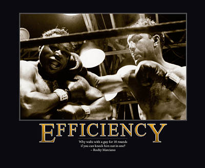Black Ring Photograph - Rocky Marciano Efficiency  by Retro Images Archive