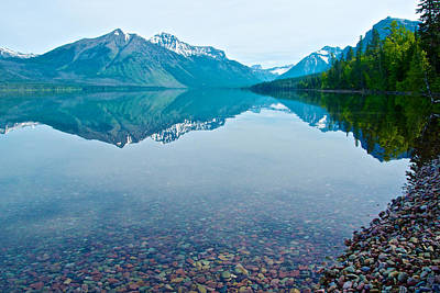 Rocky Mountain And Rocky Bottom Reflection In Lake Mcdonald In Glacier National Park-montana Original by Ruth Hager