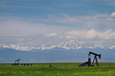 James Insogna Photograph - Rocky Mountain Front Range Oil by James BO  Insogna