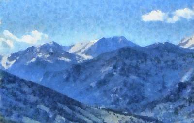 Mountain Mixed Media - Rocky Mountain High by Dan Sproul