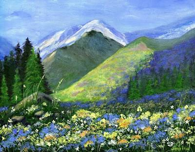 Frier Painting - Rocky Mountain Spring by Jamie Frier