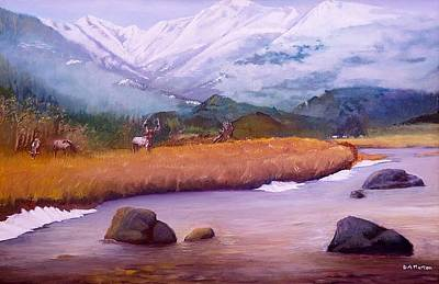 Early Spring Drawing - Rocky Mountain Thaw by David Morton