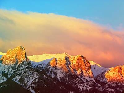 Rocky Mountains In Canmore Alberta Print by Carol Cottrell