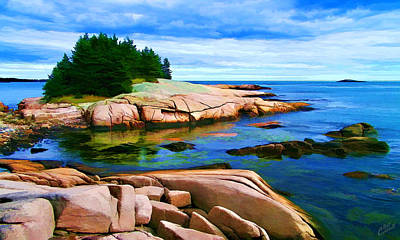 Coastal Maine Photograph - Rocky Point At Great Waas by Bill Caldwell -        ABeautifulSky Photography