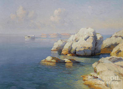 Orthodox Painting - Rocky Shore by Celestial Images