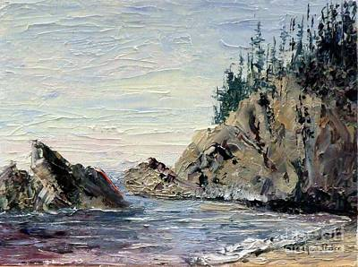 Rocky Shore Original by Lynne Parker