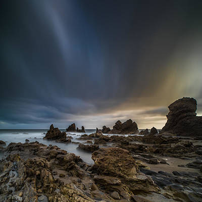 Long Exposure Photograph - Rocky Southern California Beach 3 by Larry Marshall
