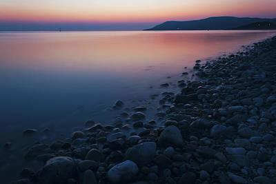 Rocky Sunset Print by Ian Mitchell