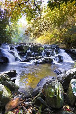Rocky Waterfall Print by Debra and Dave Vanderlaan