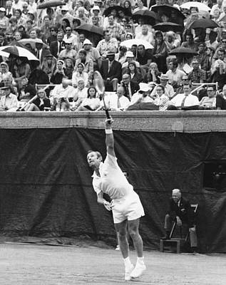 Us Open Photograph - Rod Laver Tennis Serve by Underwood Archives