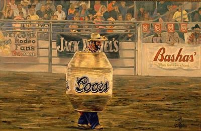 Rodeo Clown Painting - Rodeo Clown by Rick Fitzsimons