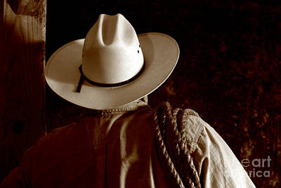 Rodeo Cowboy Print by Olivier Le Queinec