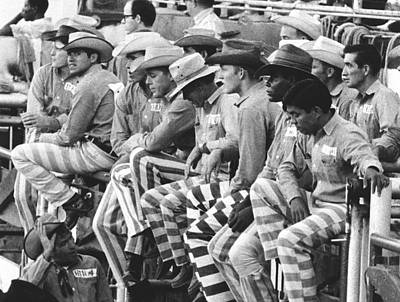 Oklahoma Photograph - Rodeo Cowboy Prisoners by Underwood Archives