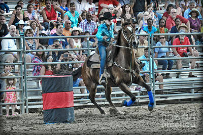 Wild Racers Photograph - Rodeo Cowgirl by Gary Keesler