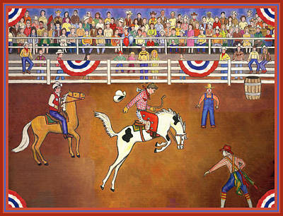 Rodeo Clown Painting - Rodeo One by Linda Mears