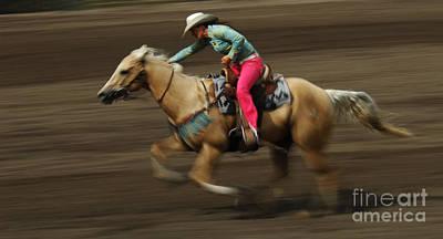 Barrel Racing Photograph - Rodeo Riding A Hurricane 2 by Bob Christopher