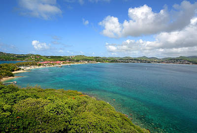 Bahama Islands Photograph - Rodney Bay Viewed From Fort Rodney - St. Lucia by Brendan Reals