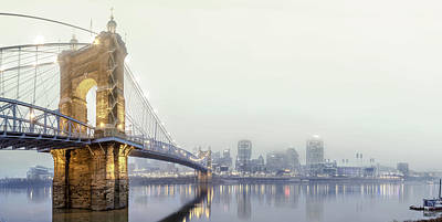 Roebling In The Fog Print by Keith Allen