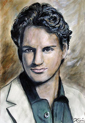 Roger Federer Painting - Roger Federer - Portrait by Olivia Gray