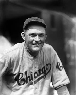 Rogers Hornsby Smiling In Cubs Jersey Print by Retro Images Archive