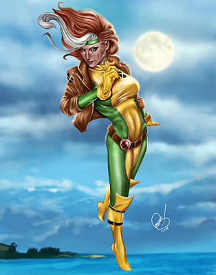 X-men Painting - Rogue by Pete Tapang