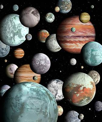 Rogue Planets Print by Lynette Cook