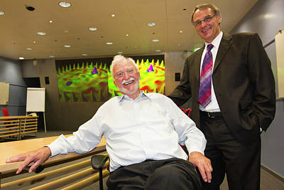 Inauguration Photograph - Rohrer And Binnig by Ibm Research