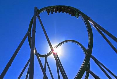 Roller Coaster-the Hulk Print by Rita Mueller