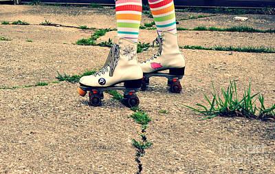 Roller Skates Print by Nikki Rosenberg