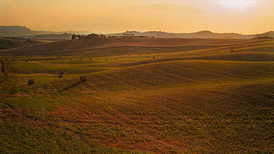Tuscan Sunset Photograph - Rolling by Francesco Emanuele Carucci