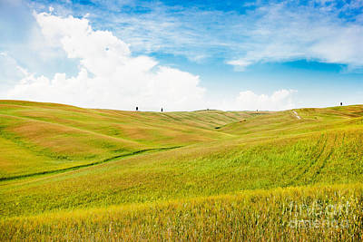 Rolling Hills In Tuscany Print by JR Photography