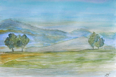 Rolling Hills Print by Sherry Allen