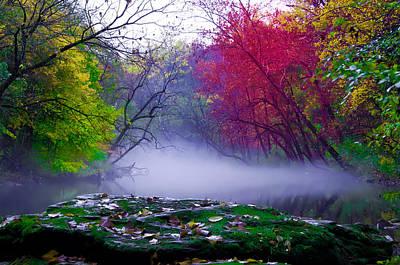 Phillies Digital Art - Rolling Mist On The Wissahickon Creek by Bill Cannon
