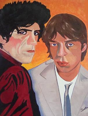 Rolling Stones Print by Paula Justus