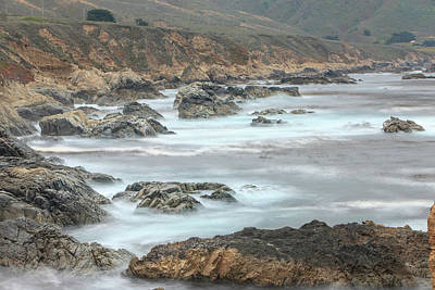 Of Big Sur Beach Photograph - Rolling Surf From The Pacific by Tom Norring