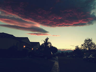 Pink Clouds Photograph - Rolling Through by Laurie Search