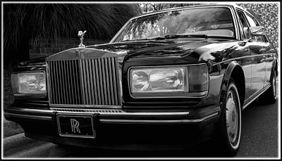 Black_white Photograph - Rolls Royce 1979 / Silver Spur by James C Thomas