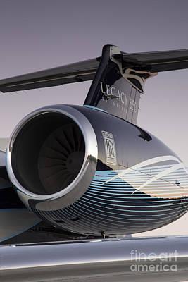 Rolls-royce Ae 3007a2 On Embraer Legacy 650 Print by Dustin K Ryan