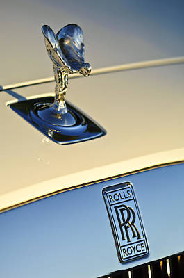 Hoodie Photograph - Rolls-royce Hood Ornament 3 by Jill Reger